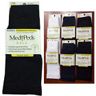 NWT Medipeds Gold Womens Travel Work Compression Trouser Dress Socks WH Blk Navy