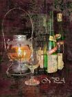 Distressed Wine Bottles w Lantern Picture Home Wall Art Interior Room Decor A231