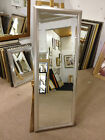 NEW MODERN SHAPED SILVER LONG AND FULL LENGTH DRESSING MIRRORS - VARIOUS SIZES A