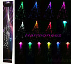 """5 pc LOT OF 20"""" LED FIBER OPTIC CLIP ON COLORED HAIR LIGHT LIGHTS UP EXTENSIONS"""