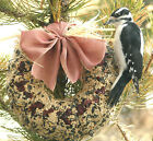 BIG WREATH reinforced home made Bird Seed Feeder with hanger