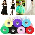 Pretty 25yd Tulle Roll Spool Tutu Bow Craft For Weddin/Skirts/Sashes Decorations