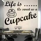 Sweet Cupcake wallsticker  art sticker quote kitchen decor