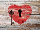 Key to my Heart Matted Picture Home Wall Art Interior Room Decor A321