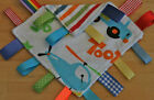BABY TAGGY BLANKET / COMFORTER / GIFT / BLUE / BOY / CARS / MINKY/ LARGE