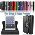 Black 360 Degree Rotating PU Leather Case Stand For Apple iPad Mini