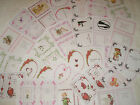 VALENTINES INSERTS - multi printed designs red/pink set of 24 A5 Partycascades