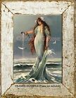 MERMAID SEA GODDESS OCEAN Waves Seashell Victorian Vintage Antique ART PRINT