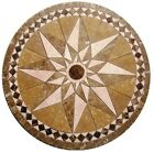 Floor marble medallion star noce tile mosaic 60 compass rose Medallion US