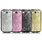 Samsung i9300 i747 i535 Galaxy S3 Crystal Cubic Smartphone Case Cover_Gold etc