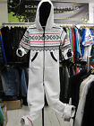 LADIES GIRLS KIDS AZTEC HOODED ONESIE WHITE SIZE S/M 6/8 UK