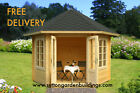 2.89m Octagonal CORNER SUMMERHOUSE/GARDEN OFFICE / SHEDS / LOG CABIN