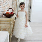 Flower Girls Kids Baby Birthday Wedding Dance Party Pageant Recital Ivory Dress