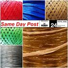 Raffia Paper Ribbon Many Colors Decorating gift flower craft 2 -100m TOP Quality