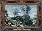 UNION PACIFIC TRAIN RAILROAD Steam Engine, Sherman Hill WY 1947 ART PRINT