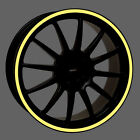 Reflective Wheel Rim Trim Tape Stripe Decal Motorcycle, Car fit 16-19 inch rims