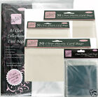 "Anita's clear cellophane self seal card bags 4"" 6"" & 8"" square, A5  A6 tall 5x7"""