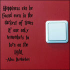 SMALL HARRY POTTER QUOTE DUMBLEDORE TURN LIGHT SWITCH ON WALL ART STICKER  DECAL