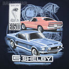 Ford Shelby Cobra Mustang T-Shirt Navy Car Auto RPM Gauge GT 500 BABA