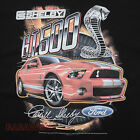 Ford Shelby Cobra GT 500 Red Mustang T-Shirt Black Car Auto Signature BABA