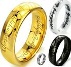 Tungsten Titanium Ceramic Ring Lord of Rings LOTR The One Jewel Wedding All Size