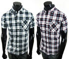 ST969 New Mens Casual Short Sleeve Dress Shirts 2 Colors Size S,M,L,XL