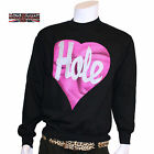 HOLE HEART LOGO BLACK FLEECE SWEATSHIRT GRUNGE ROCK COBAIN LOVE NEW S M L XL