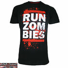 DARKSIDE CLOTHING RUN ZOMBIES BLACK T-SHIRT ZOMBIE HORROR EVIL ALL SIZES BNWT