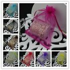 50 17x23cm Organza Bags Jewelry Gift Pouch Bags For Wedding favors,beads,jewelry