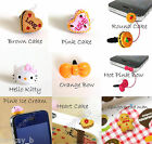 Heart Cake Hello Kitty  3.5mm Earphone Ear Cap Dock Dust Plug For iPhone 4 4S