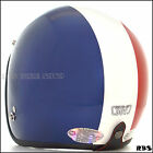 French Flag Vintage Half face MOTORCYCLE Scooter bike DOT Jet helmets