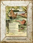 "BOY and his DOG Illustrated Vintage Children's Poem ""CHUMS"" Nostalgic ART PRINT"