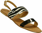 Guess Women's Pilaf Zebra Print Sandals