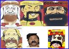 Fancy Dress Fake Tash Moustache Around The World Various Themes and Colours NEW