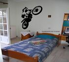 XTRA LARGE - MOTO-X WHEELIE - WALL ART DECAL STICKER