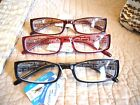 """MEN OR LADIES """"EXTRA STRENGTH"""" READING GLASSES/MAGNIFIERS 4.00-6.00 3-COLORS"""