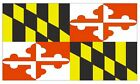 Maryland Flag Sticker Made In The Usa F304 Choose Size From Dropdown