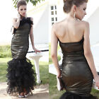 Woman Evening Party Prom Formal Gown Wedding Bride Sparkle Dress Plus 6-14 3122