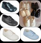 BABY BOY,TODDLER,LACES PRAM SHOES CHRISTENING/BAPTISM/WEDDING/PARTY, PATENT,MATT