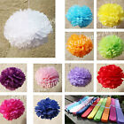 "10Mix(10"" 12"") White & Colourful Paper Pom Pom Party  Wedding Decoration"