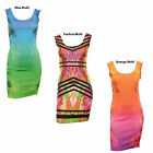 Elysia New Womens Floral Print Multi Colour Sleeveless Bodycon Mini Ladies Dress