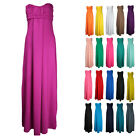 NEW LADIES SLEEVELESS BANDEAU MAXI DRESS WOMENS STRAPLESS BOHO LONG MAXI 8-26