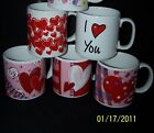 New Coffee Tea cup mug heart Russ Happy Birthday Anniversary Valentines Choices
