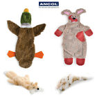 Ancol Stuffing Free Floppet Flattie Cat Fox Leopard Duck Dog Puppy Toy Squeak