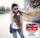 Flat Large Print Leopard Animal Print Scarf Shawl Stole Wrap T7