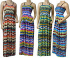 Strappy Summer Maxi Dress UK Size 10 - 18 (Aztec Print)