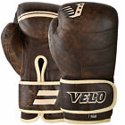 VELO MMA Gloves Fight Grappling UFC Punch Padded Bag Leather Muay Hand Gel Tech
