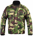 Green Camouflage Camo CE Armoured Waterproof Motorcycle Motorbike Cordura Jacket