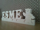 Solid Wood Personalised Newborn Gift Baby Name Plaque Jigsaw Letters