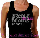The Real Moms of - TRACK - Iron on Rhinestone Tank Top - Sports Mom T-Shirt